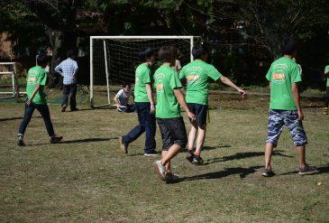 Soccer battle with Kiyota lab !